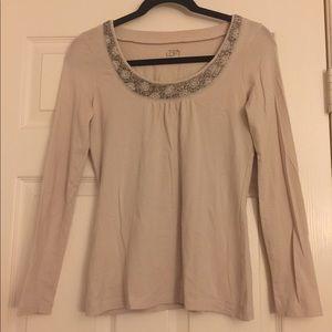 [Loft] beaded jersey top